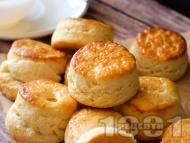 Рецепта Бързи и лесни пухкави курабии (scones)